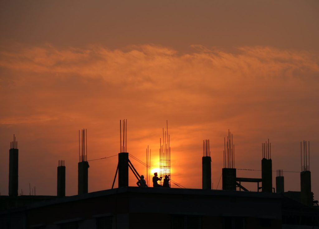 sun-rising-on-construction-site