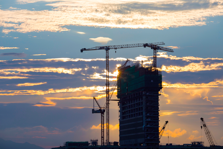 construction-on-building-by-sunset